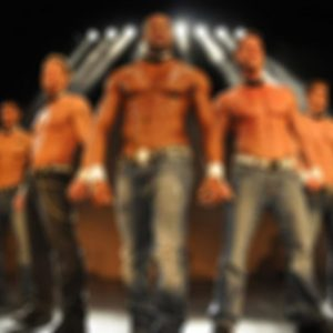 Sexy male dancers at a Las Vegas male revue