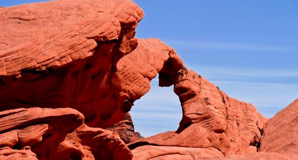 Red Rock Canyon near Las Vegas has beautiful trails for hiking.