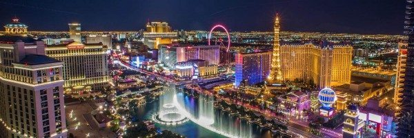 Awesome view of the Las Vegas Strip at night
