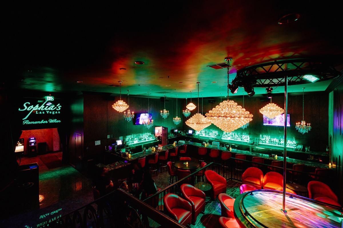 Main stage at Sophia's gentlemen's club