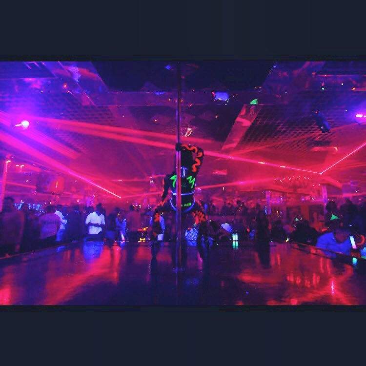 Laser lights and neon party at Crazy Horse 3