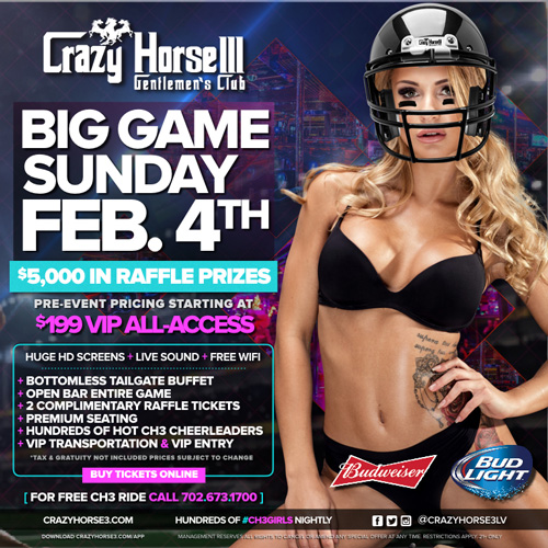 Watch the Superbowl at a Las Vegas Strip Club
