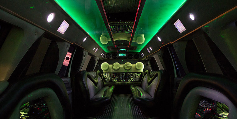 THE MAX super limo interior with custom lighting