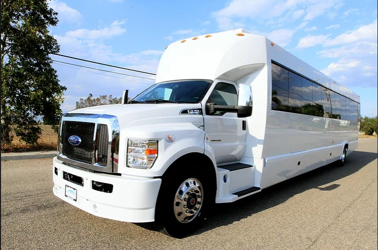 WICKED 40 person party bus perfect for long trips with on board restroom