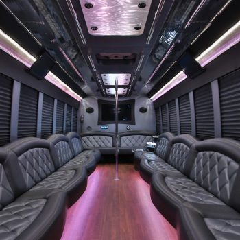 Luxury interior with executive tones and stipper pole