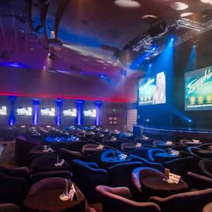 Awesome sports and event viewing area at Sapphire Gentlemen's Club