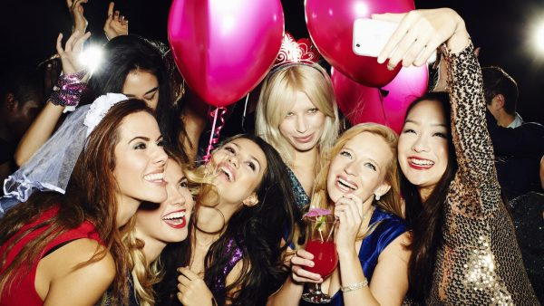 Girls enjoying a Las Vegas bachelorette party