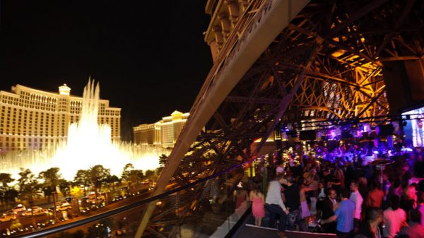 Partying at Chateau nightclub in Las Vegas