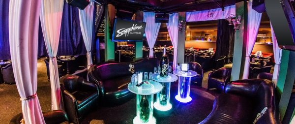 VIP bottle service with Dom Perignon champagne at Sapphire Gentlemen's Club