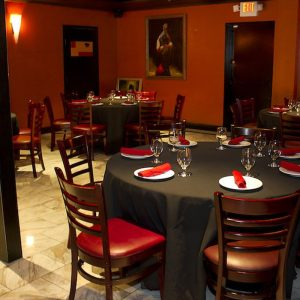Main dining area at Firefly restaurant