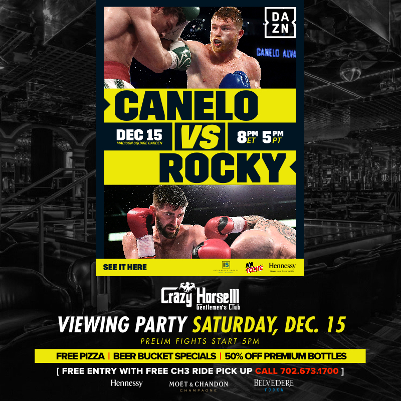 Canelo vs Rocky WBA Super middleweight title fight viewing party