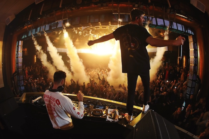 The Chainsmokers performing at XS nightclub in Las Vegas