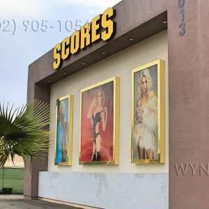 View of Scores Gentlemen's Club Las Vegas from the street