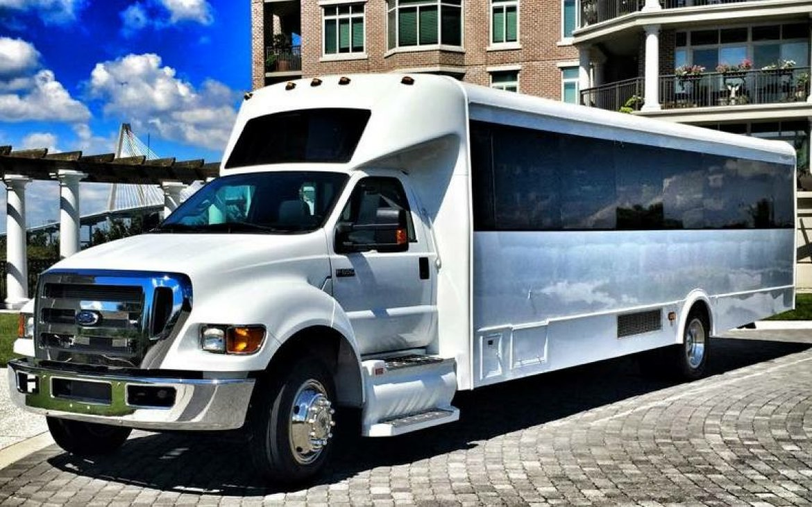 BIG TIME 40 passenger white party bus