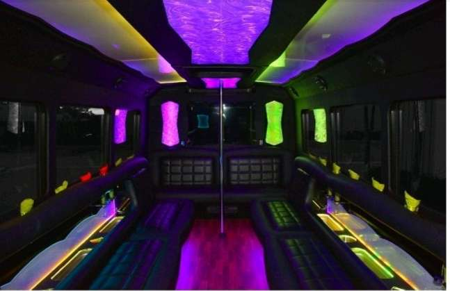 YOLO PARTY BUS INTERIOR