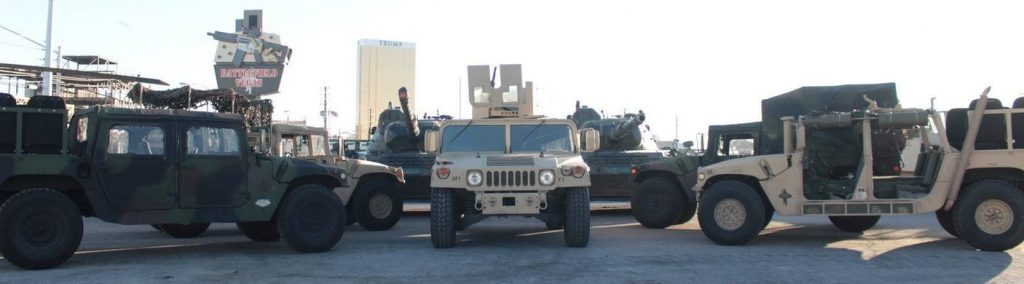 Humvees at Battlefield Las Vegas